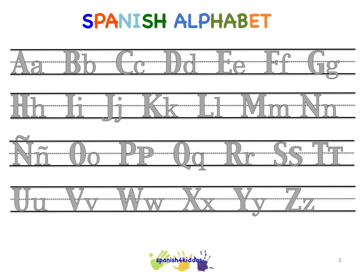 Free Printable Spanish Alphabet Worksheets
