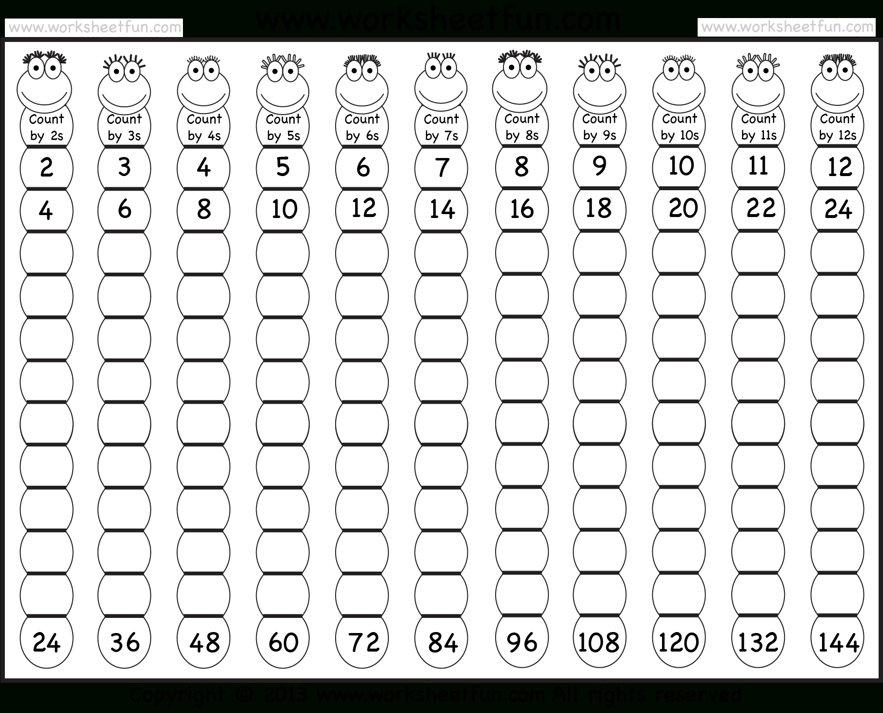The Multiplying 1 To 126 (A) Math Worksheet From The