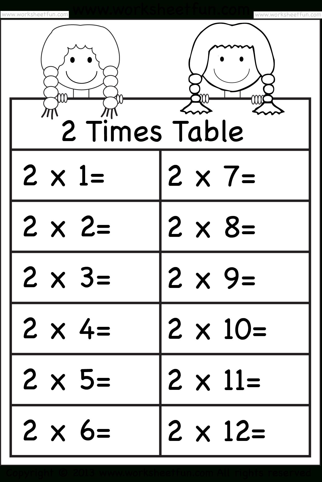 5 Times Table Worksheet Printable