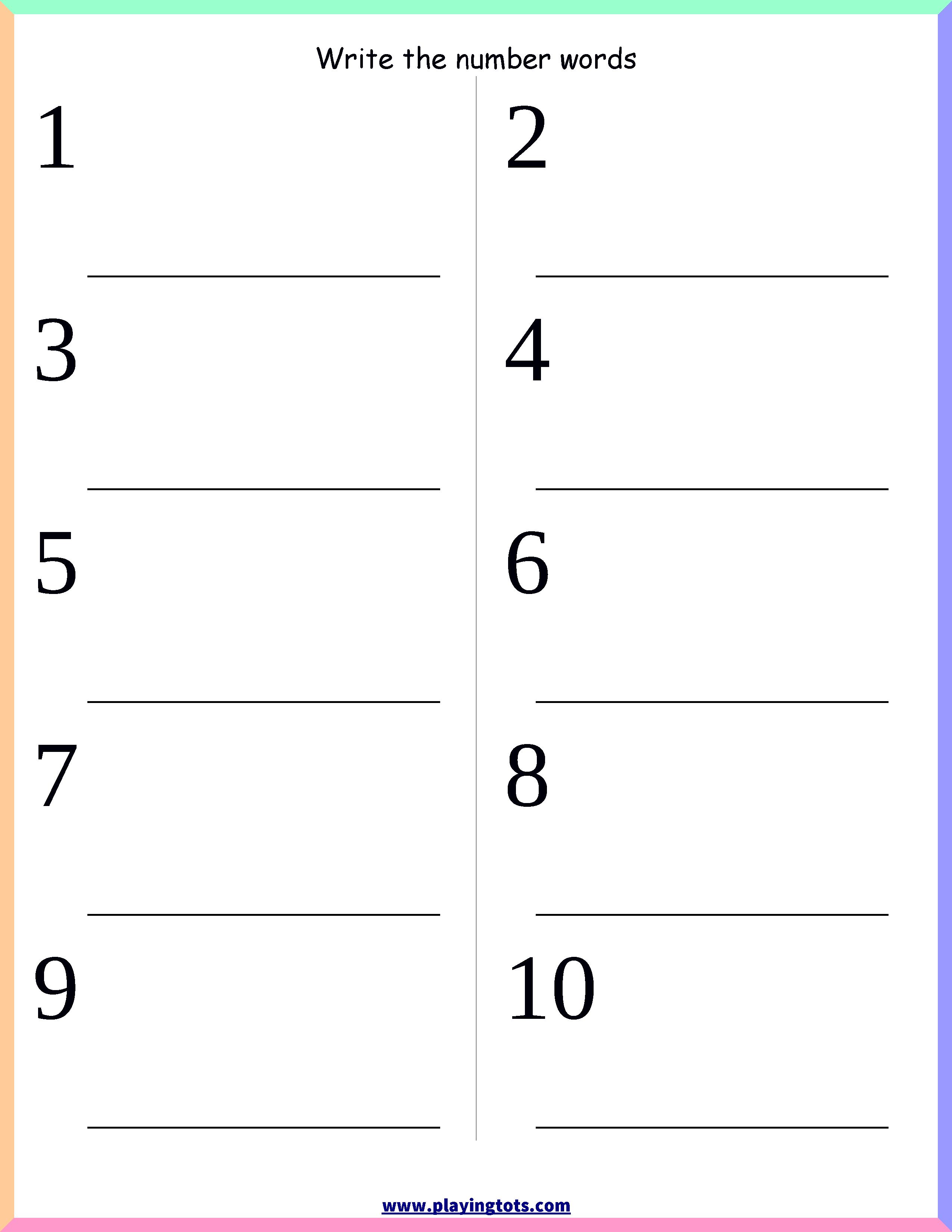 Printable Spelling Worksheet