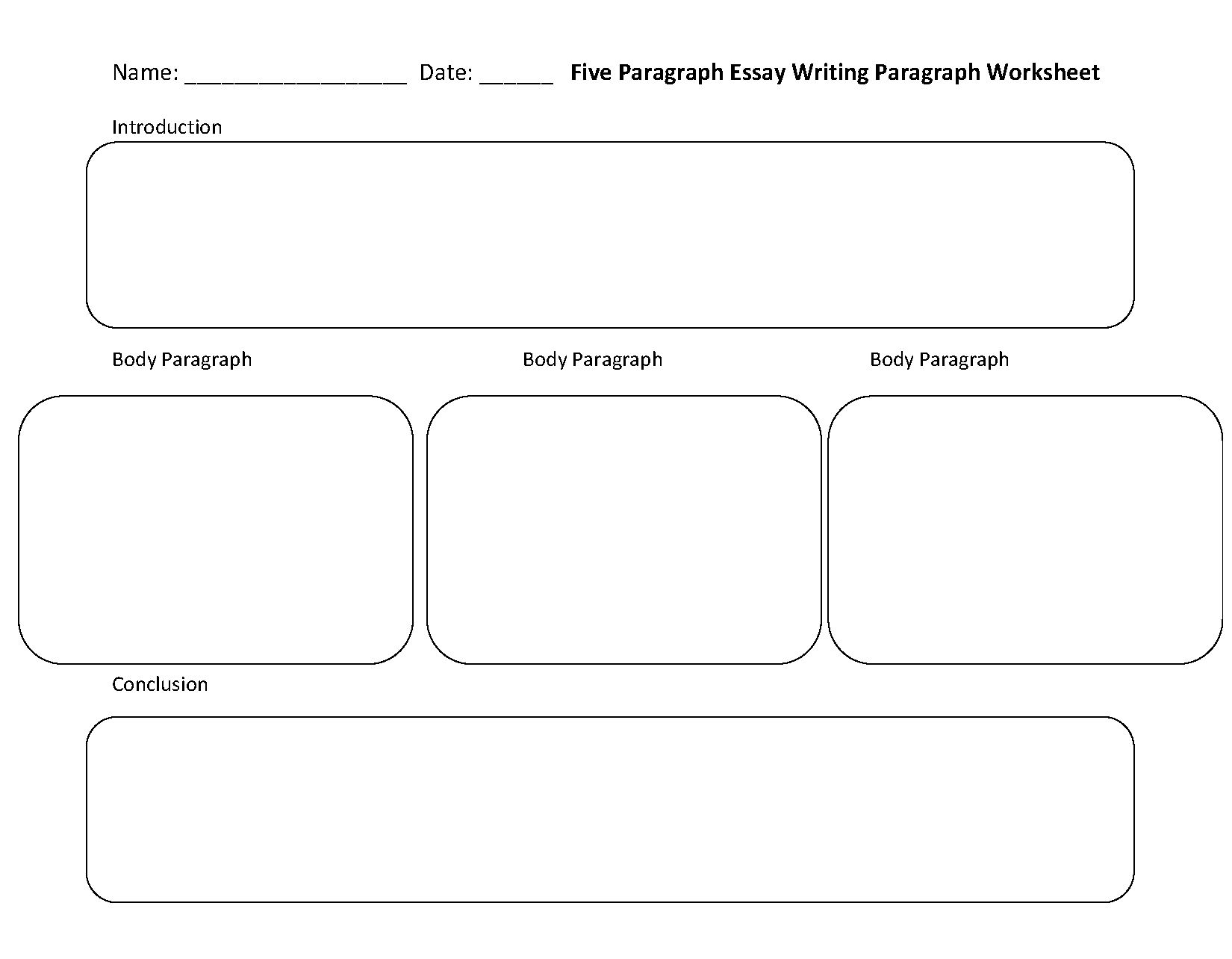 Writing A Topic Sentence Worksheet