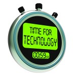 Time For Technology Message Shows Innovation Improvement And Hi Tech