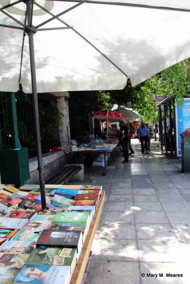 Book sellers outside the National Gardens
