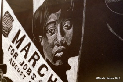 """""""We're Marching for Civil Rights"""" by Susan Pearson, Huffman High School."""