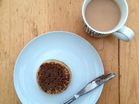 Continuing this week's nutella theme...nutella on crumpets!
