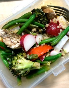 Chicken, quinoa, veggies - best lunch of the week