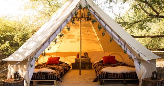 Tenda glamping tradisional