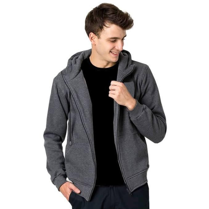 Jaket Sweater Zipper Hoodie Abu Tua