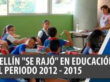 En el periodo 2012-2015 Medellín se rajó en educación, medio ambiente y salud