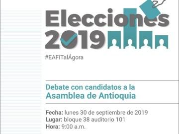 Debate con candidatos a la Asamblea de Antioquia