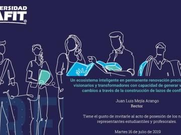 Posesión de los nuevos representantes estudiantiles y profesorales 2019
