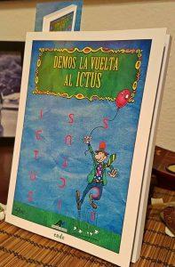 """Portada de """"Demos la Vuelta al Ictus"""", ilustrada por Idígoras."""