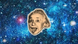 Albert Eisntein en el espacio.