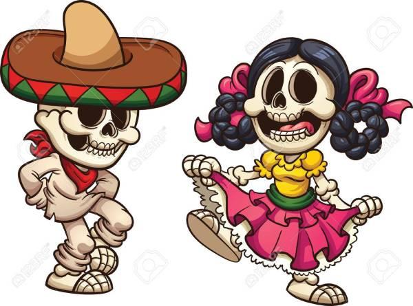 63518214-esqueletos-danzantes-mexicanos-vector-ilustración-de-imágenes-prediseñadas-con-gradientes-simples-cada-uno-e