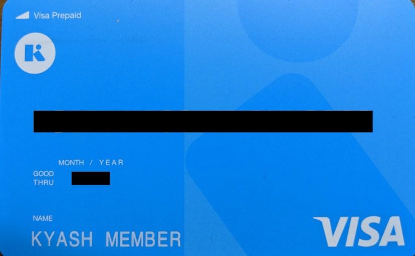 Kyashのリアルカードが届いた
