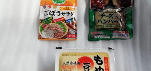 ごぼうサラダ、ハンバーグ、豆腐