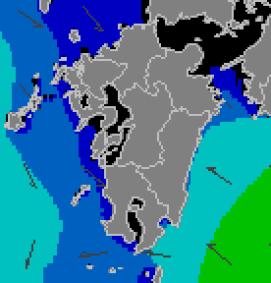 沿岸波浪モデル予想(九州のみ)