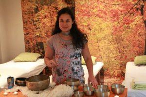 Klankschalen avond bij Masaka. massage met klankschalen