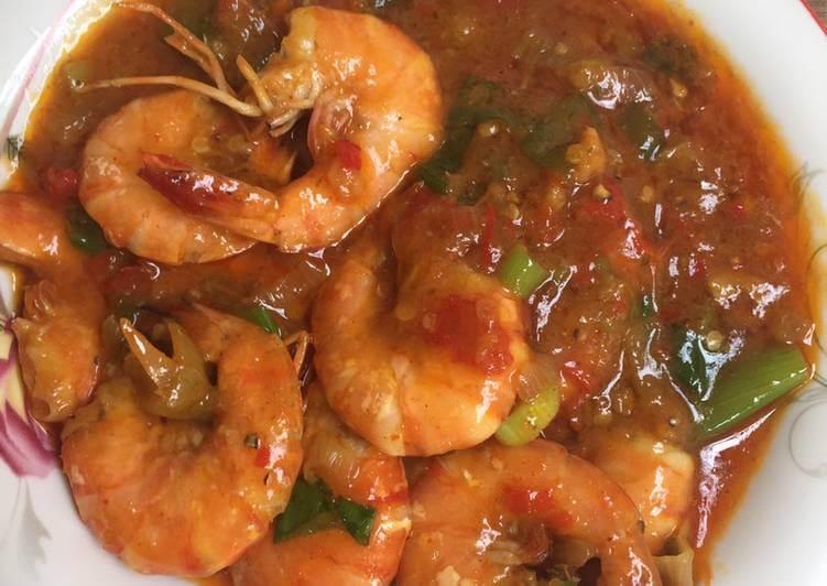 4. Resep Masakan Udang Saus Padang