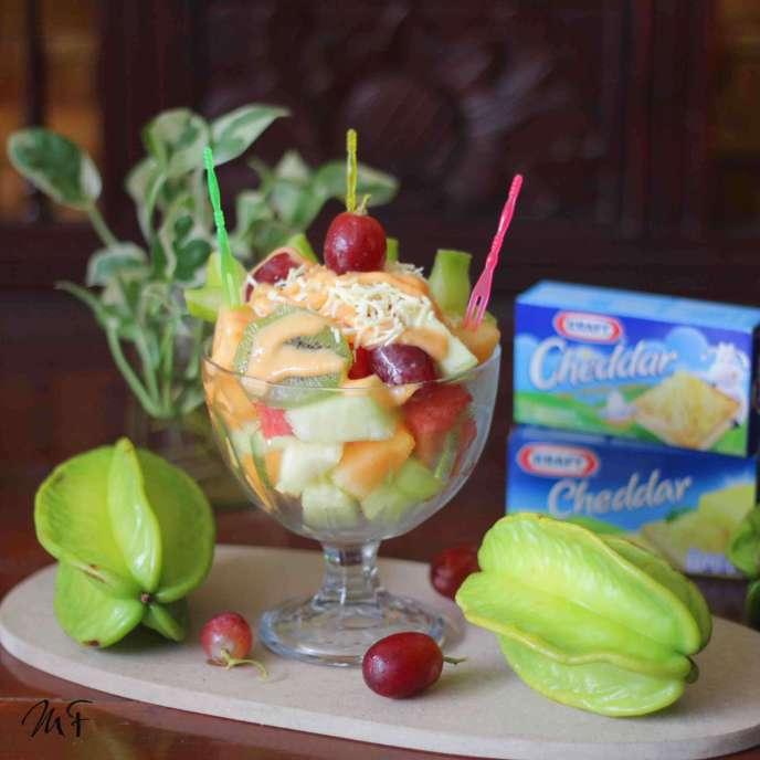 9. Fruit Salad with Kraft Cheese Mayo