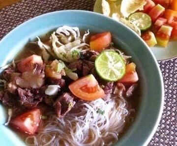 Resep Masakan Soto Daging Sapi Bihun