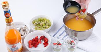 resep kue basah puding jeruk susu saus frambozen 4