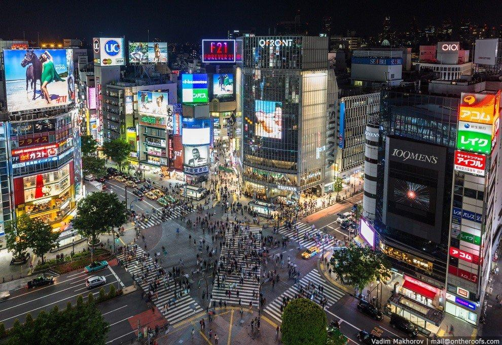 Культовый перекресток Сибуя. Токио