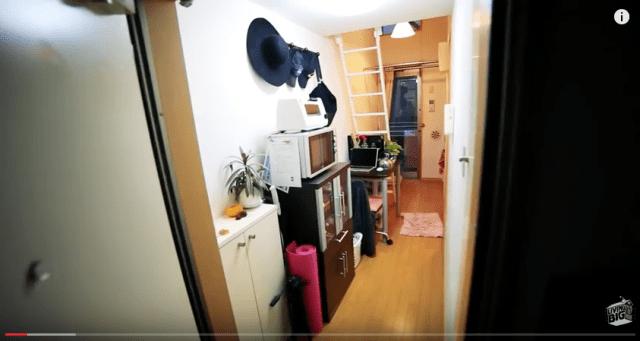 Крошечная квартира в Токио. Продуманный дизайн.