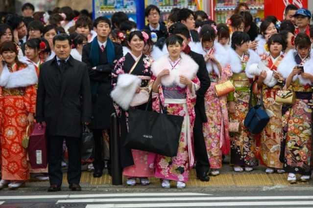 Праздник совершеннолетия в Японии. Seijin-shiki