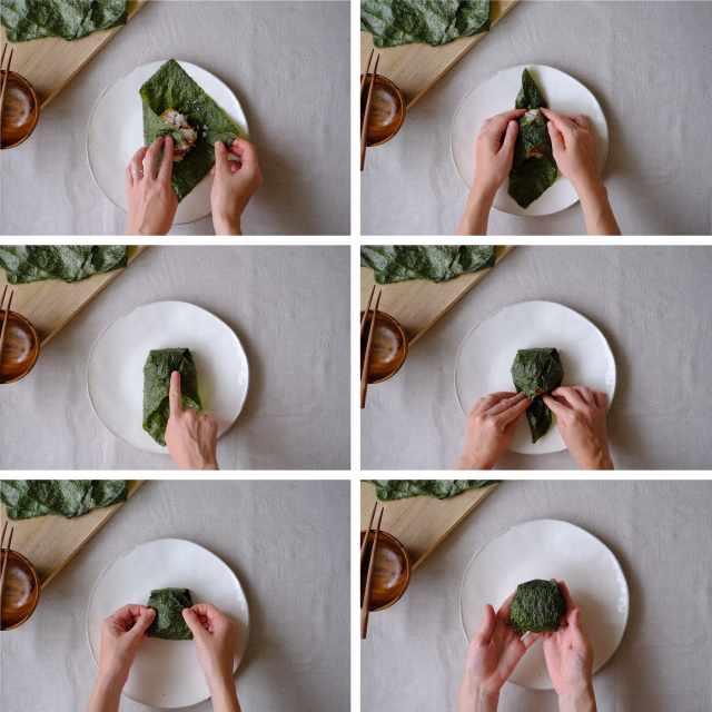 Фото, рис, еда, водоросли.