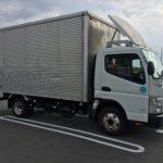 日本でレンタカー(三菱ふそう キャンター)