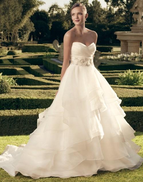 Casablanca bridal organza princess ballgown wedding dress