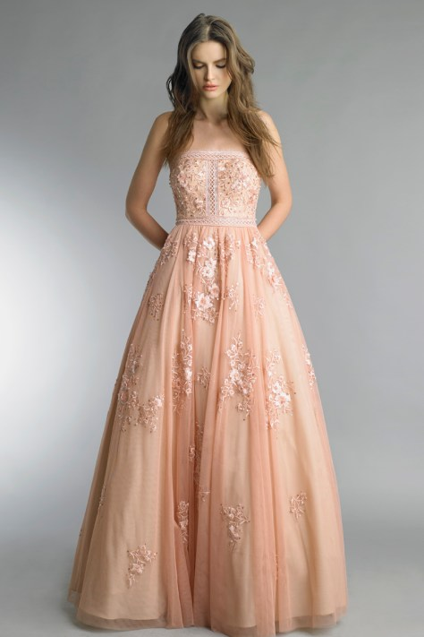 Basix Black Label blush wedding gown