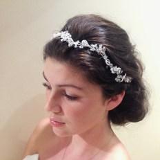 crystal and pearl hair band