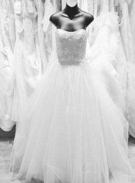 Silver beaded bodice princess wedding gown by Casablanca