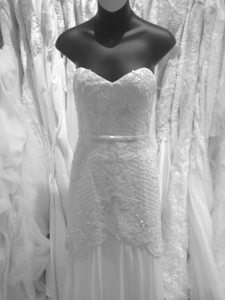 """Tulip"" handed beaded and sequin mermaid sheath wedding gown by Karen Willis Holmes"