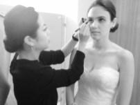 Hitomi prepares Natasha's makeup