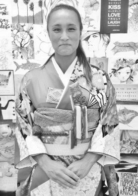Our bridal stylist Zoe, learned to respect the samurai era!