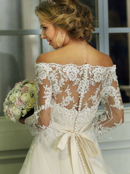 Victoria's Bridal 3283 sz14 IVY $999 BACK (1)