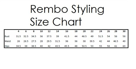 Rembo Styling Size Chart