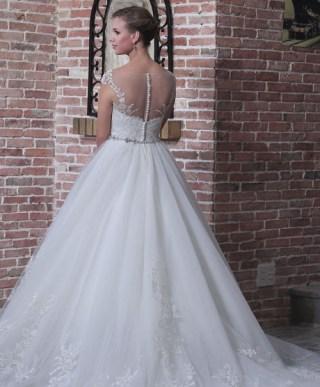 Victoria's Bridal 2227 sz8 IVY $1379 Back (1)