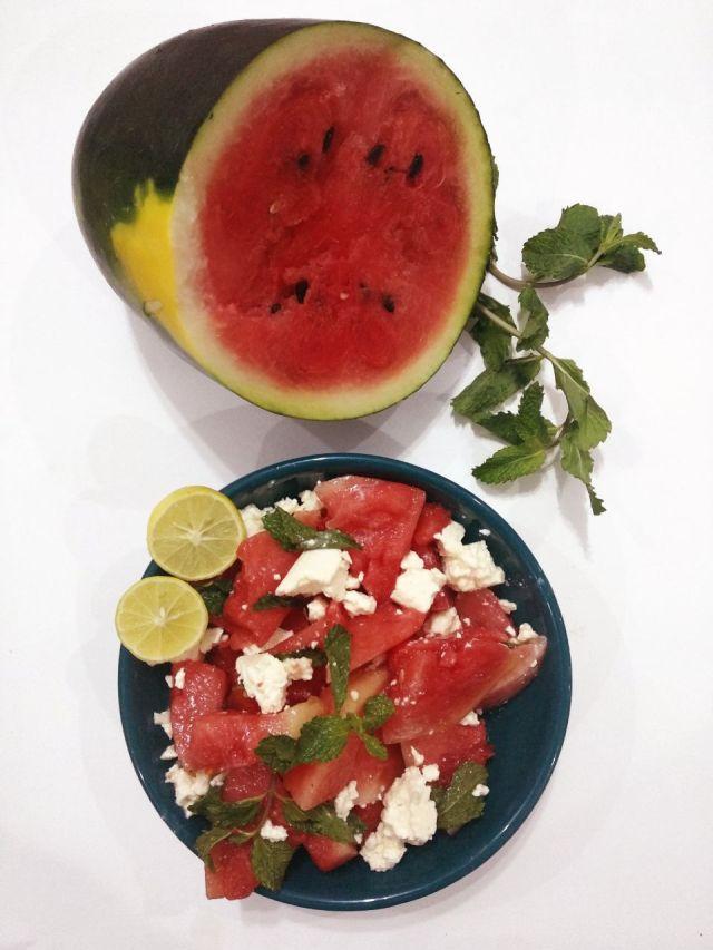 Watermelon-FetaCheese-Salad