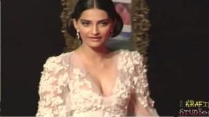 Sonam Kapoor Deep V Neck Dress at JTHJ Priemere - YouTube[(000194)20-28-17]