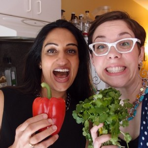 Adrienne and Nagina Cooking