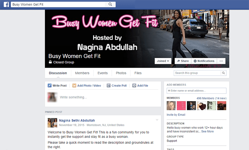 Busy Women Get Fit Facebook Group