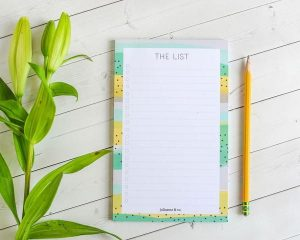 I love this simple grocery list notepad that comes with or without a magnet (it's what I use in my home!)
