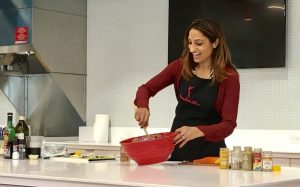 Cooking Healthy Holiday Recipes for a Nestle cooking demo
