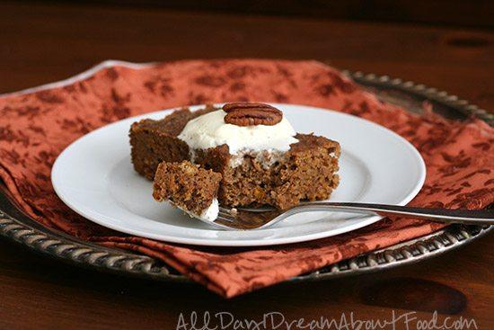 low carb crockpot spice cake