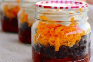 Healthy Eating at work: Skinny Ms Burrito in a jar