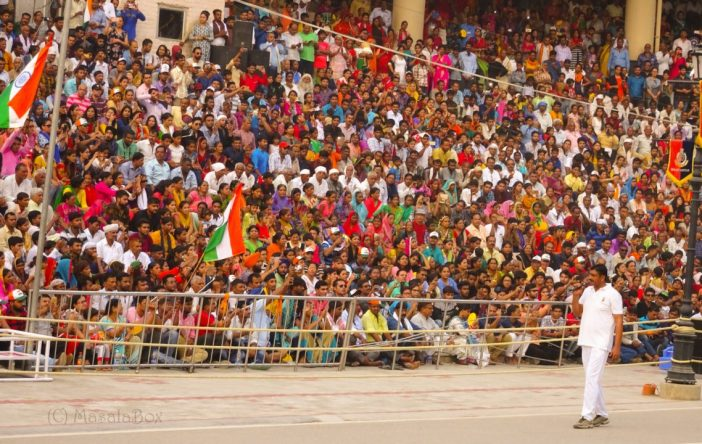Wagah border ceremony crowd